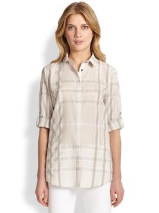 Burberry Brit Check Button-Front Shirt
