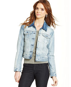 Levi's® Juniors' Authentic Trucker Off Shore Wash Denim Jacket