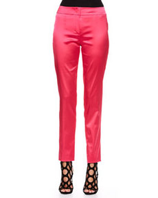 Escada Stretch Satin Pants, Blossom