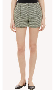 Proenza Schouler Tweed Pleated Shorts