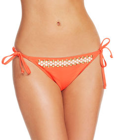 MICHAEL Michael Kors Studded Side-Tie String Bikini Bottom
