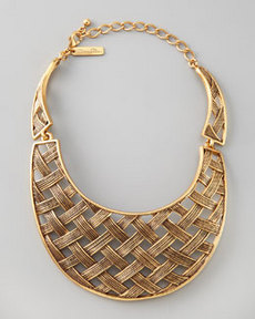 Basketweave Collar Necklace   Basketweave Collar Necklace