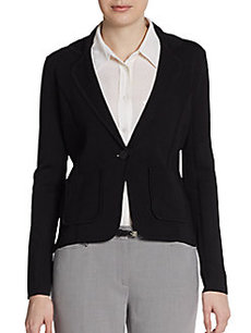 Calvin Klein Solid One-Button Knit Jacket