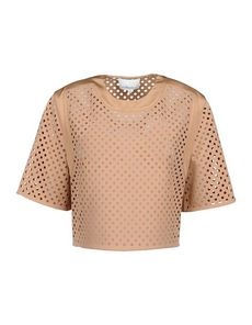 3.1 PHILLIP LIM Crêpe Solid color Round collar Short sleeves Crêpe Woven Short sleeves