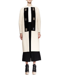 Long Bicolor Turn-Lock Coat   Long Bicolor Turn-Lock Coat