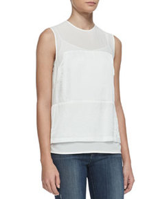 Boylan Sheer-Yoke Top   Boylan Sheer-Yoke Top