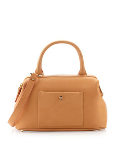 Etienne Aigner Epic Leather Satchel/Shoulder Bag, Cuoio