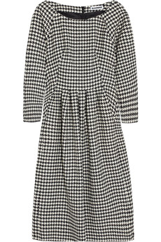 Jil Sander Houndstooth-check wool dress