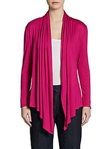 Ellen Tracy Long-Sleeve Cardigan Wrap
