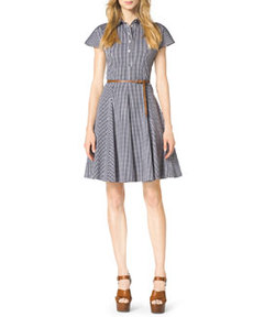 Gingham Check A-Line Shirtdress   Gingham Check A-Line Shirtdress