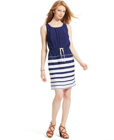 Tommy Hilfiger Sleeveless Striped Dress