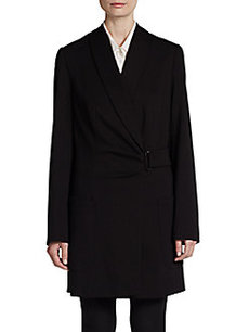 Akris Punto Side-Belt Jersey Coat