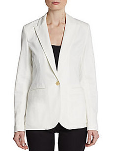 Saks Fifth Avenue BLACK Single-Button Blazer
