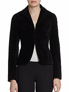 Akris Punto Ribbed Velvet Jacket