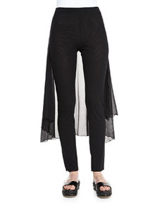 Pants with Skirted Back, Black   Pants with Skirted Back, Black