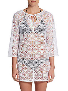 Laundry by Shelli Segal Macramé Crochet Cover-Up Tunic