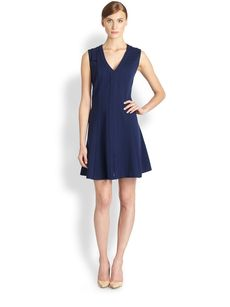 Saks Fifth Avenue Collection Sleeveless Ponte Dress