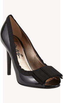 Lanvin Peep-toe Bow Pump