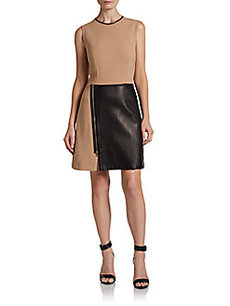 3.1 Phillip Lim Layered Biker Dress