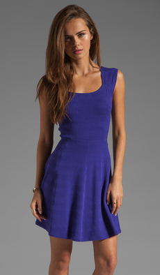 Shoshanna Amelia Sweater Dress in Purple