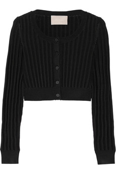 Jason Wu Cropped ribbed-knit cardigan