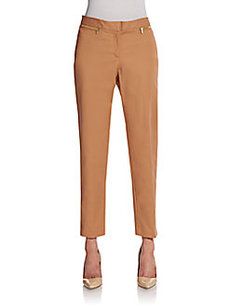 Ellen Tracy Slim Stretch-Cotton Pants