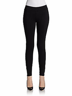 Saks Fifth Avenue BLUE Slalom Ponte Ankle-Zip Leggings