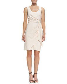 Crocodile Jacquard Wrap Dress   Crocodile Jacquard Wrap Dress