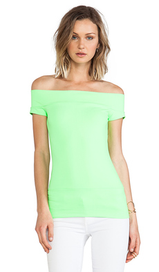 Susana Monaco Off the Shoulder Top in Green