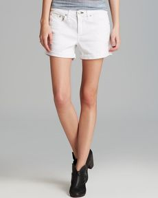 rag & bone/JEAN Jean Shorts - Boyfriend in Aged Bright White
