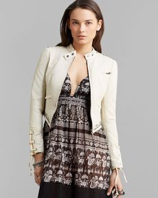 Free People Jacket - Faux Leather Lace Up
