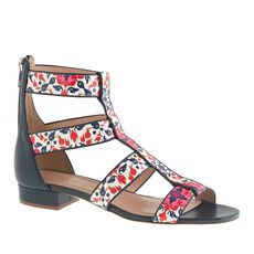 Collection printed gladiator sandals