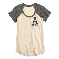 Linen baseball tee in amour