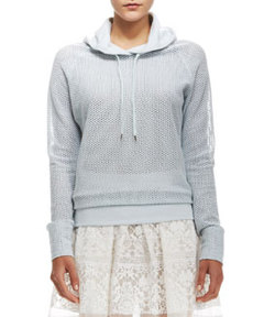 Perforated Hooded Pullover   Perforated Hooded Pullover