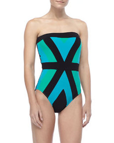 Bandeau One-Piece Swimsuit   Bandeau One-Piece Swimsuit