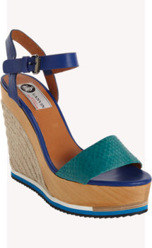 Lanvin Snakeskin Band Espadrille Wedge