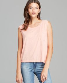 Michael Stars Tank - Crop Pocket