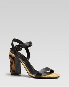 Gucci Dahlia Bamboo-Look City Sandal