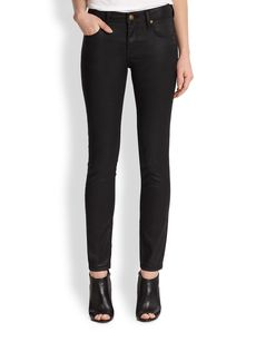 Burberry Brit Westbourne Coated Denim Pants
