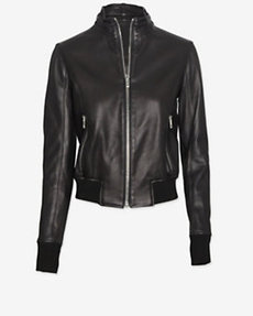 rag & bone Gran Sport Leather Jacket: Black