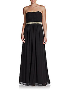 Calvin Klein Strapless Beaded Gown