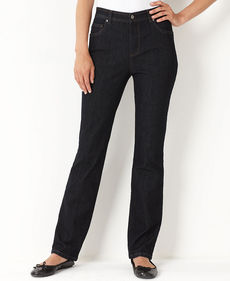 Charter Club Jeans, Tummy-Slimming Classic-Fit Straight-Leg, Dark Rinse Wash
