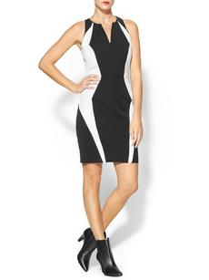 MILLY Angular Seamed Sheath Dress