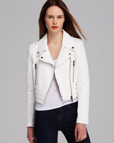 Andrew Marc Jacket - Harlow Asymmetric Leather Moto Crop