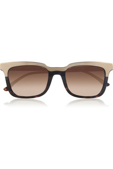 Stella McCartney Square-frame metal and acetate sunglasses