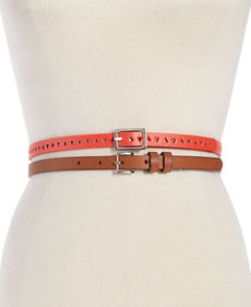 Steve Madden 2 for 1 Reversible Perforated Belts