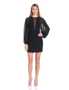 Robert Rodriguez Women's Techno Crepe Illusion Dress