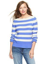 Stripe boatneck sweater