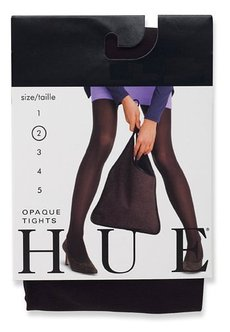 HUE Women's Opaque Sheer to Waist Opaque Tight