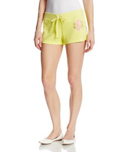 Juicy Couture Women's Flower Burst Terry Snap Pocket Short